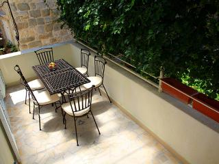 Shaded terrace in front of dinning room