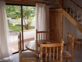 dinning space downstairs and front veranda sliding doors