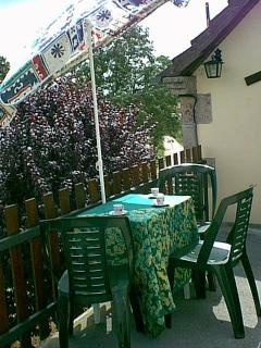 Private 1st floor terrace-ideal for breakfast,