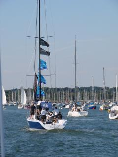 Boats on the river Hamble