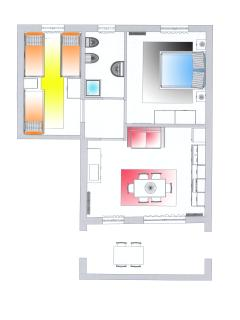 Apartment with 2 bedroom