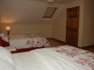 Upstairs room with King bed and large Single bed - peaceful and perfect for good night's sleep