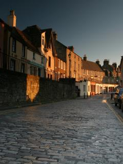 Main Street, showing the terraced pavements