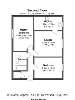 Floorplan to our Second Floor Apartment