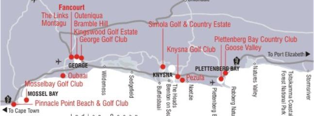 golfcourses in the area