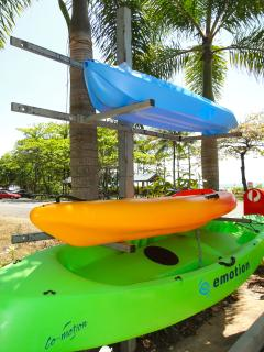 Kayaks onsite for Guests use.