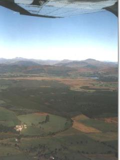 The 'Carse of Stirling', the Trossachs behind