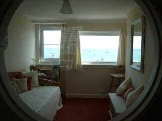 Living room through the porthole.