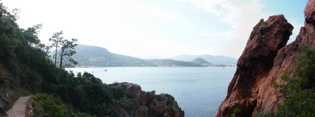Cap at Theoule (10 mins cycle from Cannes)
