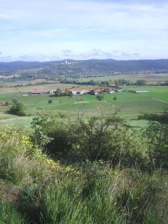 View DOWN to village