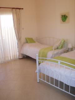 Lime Room sleeps up to 3 in 1 double & 1 single bed (2nd  available).Pool and mountain view balcony