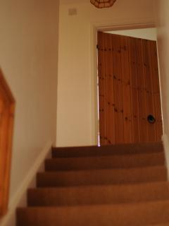 Stairs Leading up to Bathroom
