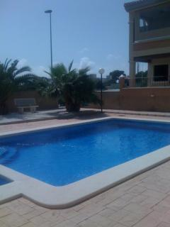 The pool with plenty of area to sun bath (kids pool)  gated.safe and secure)