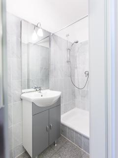 small bathroom with shower and wc