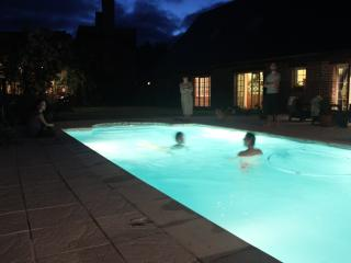 swimming pool with underwater lighting