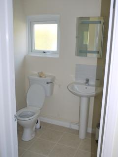 En suite to the master bedroom, with shower