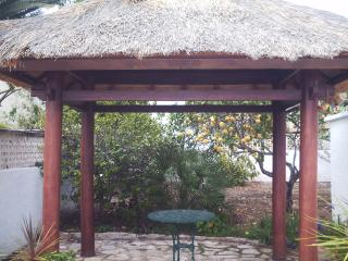 Pergola for relaxing in the shade