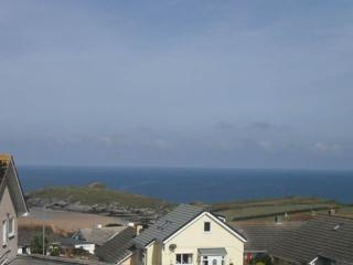 The view from the double bedroom over Porth Island