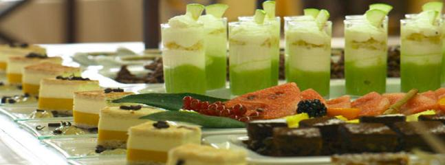 Try the tempting desserts at the buffett restaurant