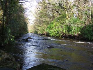 Downstream of our burn (the Penkiln)