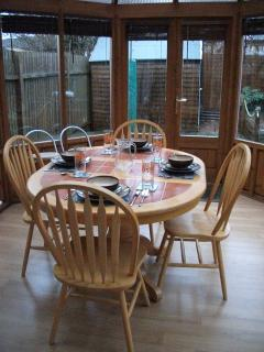 Conservatory used for Dining