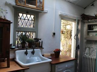 The old scullery with a modern washing machine of course