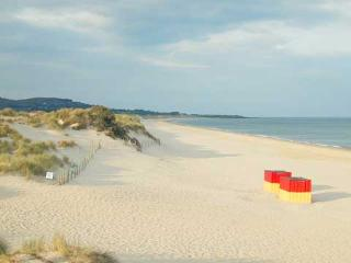 Brittas Bay, 5 km long Blue Flag beach. Perfect for walking or playing in the magnificent dunes.