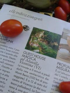 ARTICOLO DI OTTOBRE 2013 sulla rivista 'ELLE' DI CASA TRAMONTANA