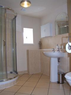 Fully fitted shower room.