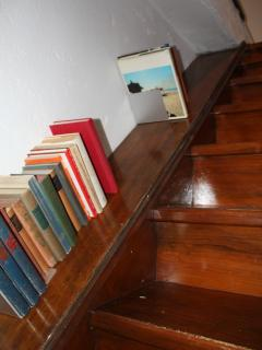 Staircase to the attic room - little library