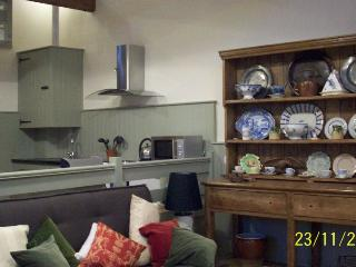 Interior , taken from living room looking into the kitchen.