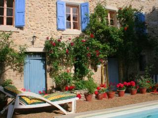 La Plume A1 jardin piscine Apt Luberon Provence