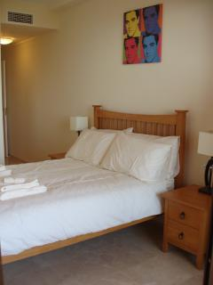 Master bedroom with full size double bed