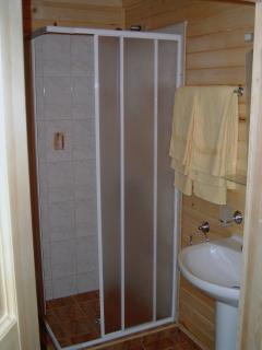 Bathroom with Shower and Sauna