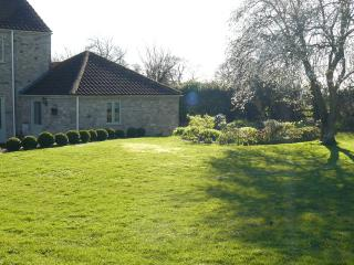 the annexe from the back garden