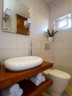 Bronze Room bathroom with walk in shower