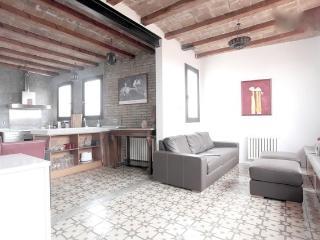 Diseño de la Sagrada Familia en calma, vista de Barcelona de 360 º