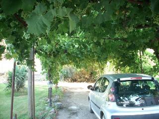 il parcheggio è all'interno della villa in giardino chiuso,  all'aperto