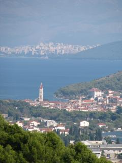 Trogir with Split city in the distance