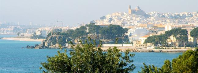 Picturesque town of Altea from the grounds of Villa Gadea