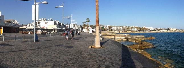 The new promenade near the harbour