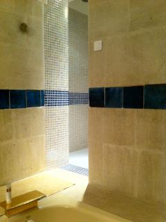 Walk-in shower and steam bath (hammam)