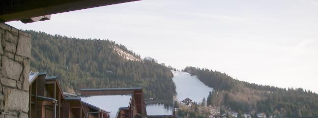 View from balcony to Timalets piste