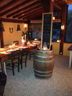 on request you can hace a special romantic dinner at light candle.....view on vine yard