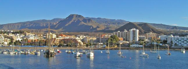 Los Cristianos Seen from the Ferry to La Gomera