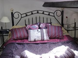 The fabulously cosy mezzanine bedroom