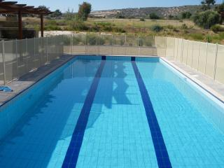 13 x 6m swimming pool (+ child safey fence), 8  wide steps & handrails for easy access. 1.2m dep