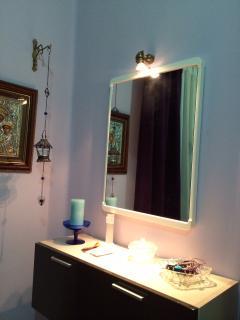 Beauty corner in the master bedroom