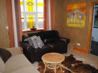 'Jungle room', 2nd lounge with pull out double bed and en suite shower room
