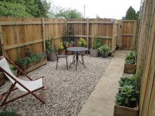 The private courtyard garden. A BBQ can be provided